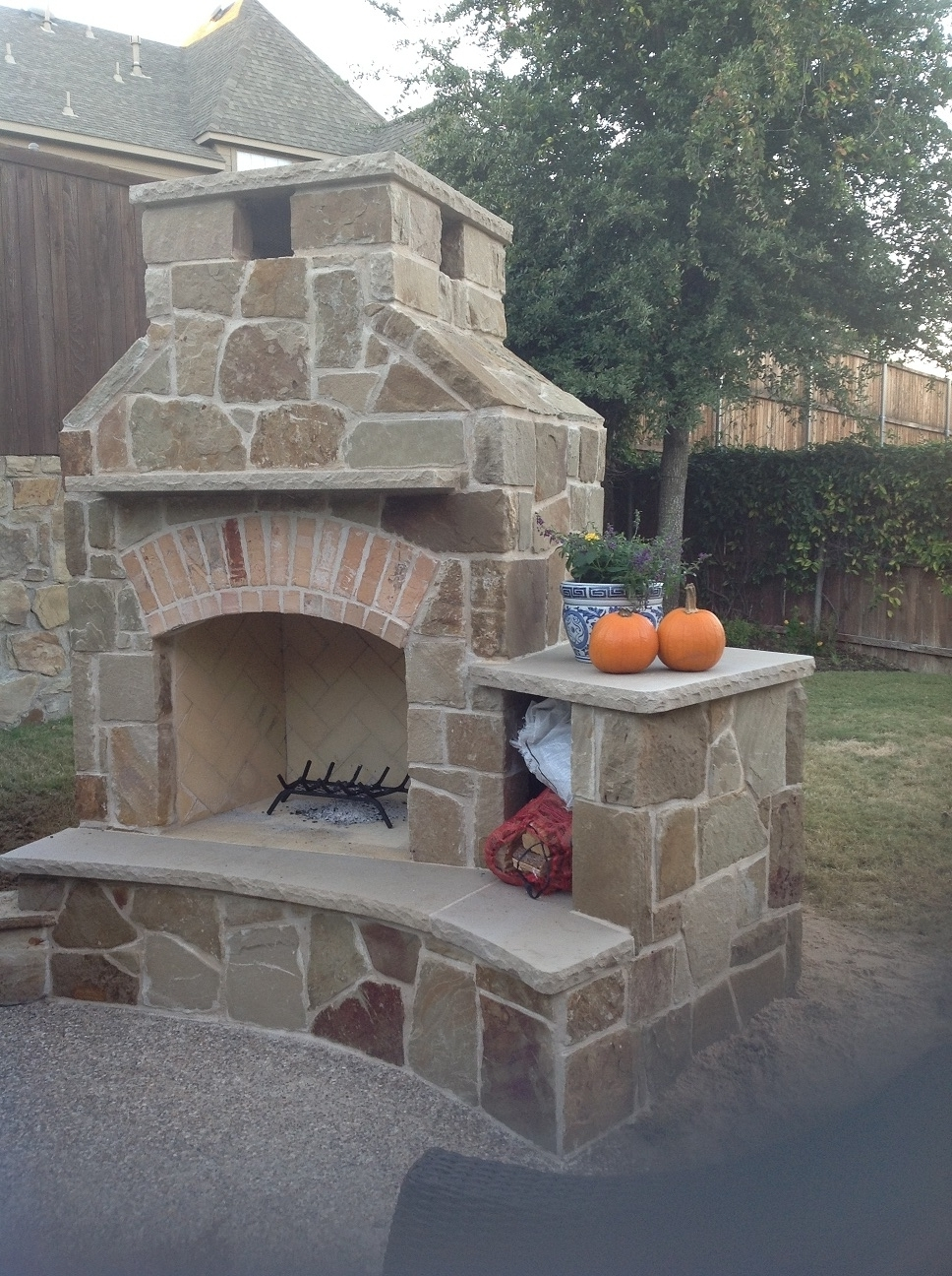 Outdoor Fireplace Wood Fire Box