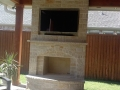 Custom Wood Outdoor Fireplace