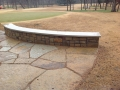 Flagstone Work | Stone Seat Bench