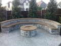 Masonry Seatbench | Stone Fire-Pit